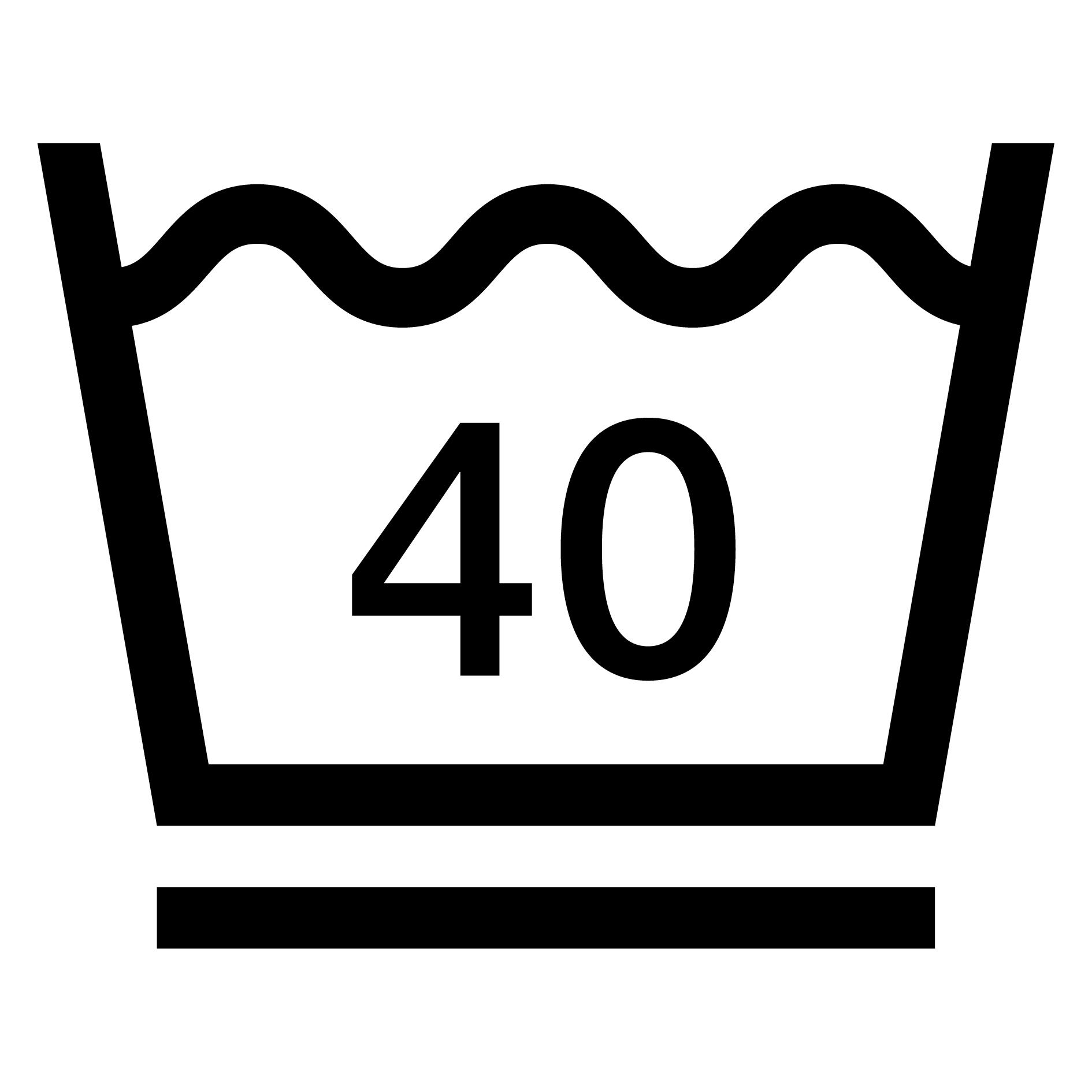 40°C mild wash