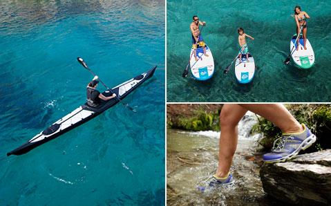 Wassersport – Paddelnd die Gewässer erkunden.