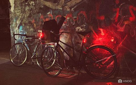Stilren sykkelbelysning