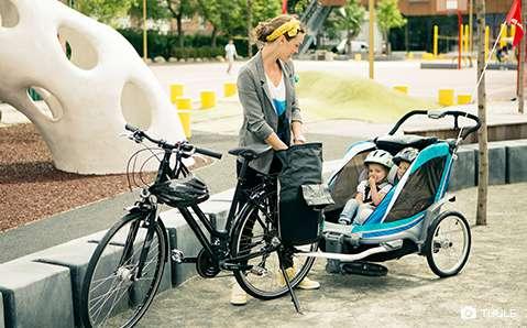 Kinderveloanhänger – Mit Kind sportlich unterwegs.