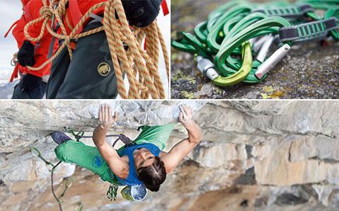 Klettern – Profi Ausrüstung für Fels und Eis.